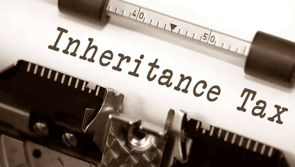 Inheritance Tax typewritten