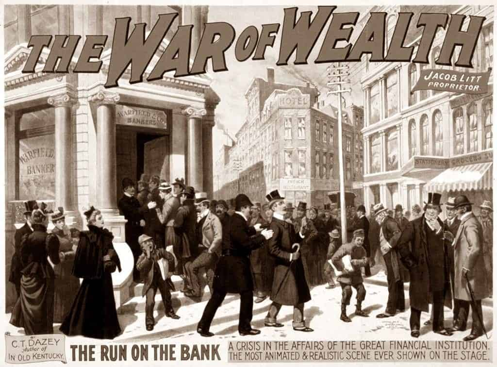 War on Wealth bank run poster