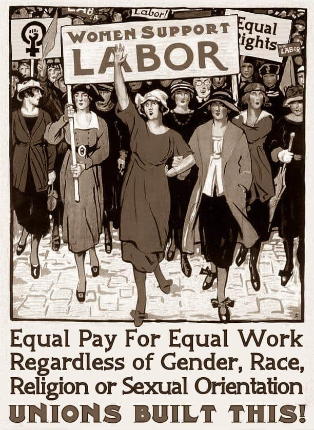 Women support labour poster