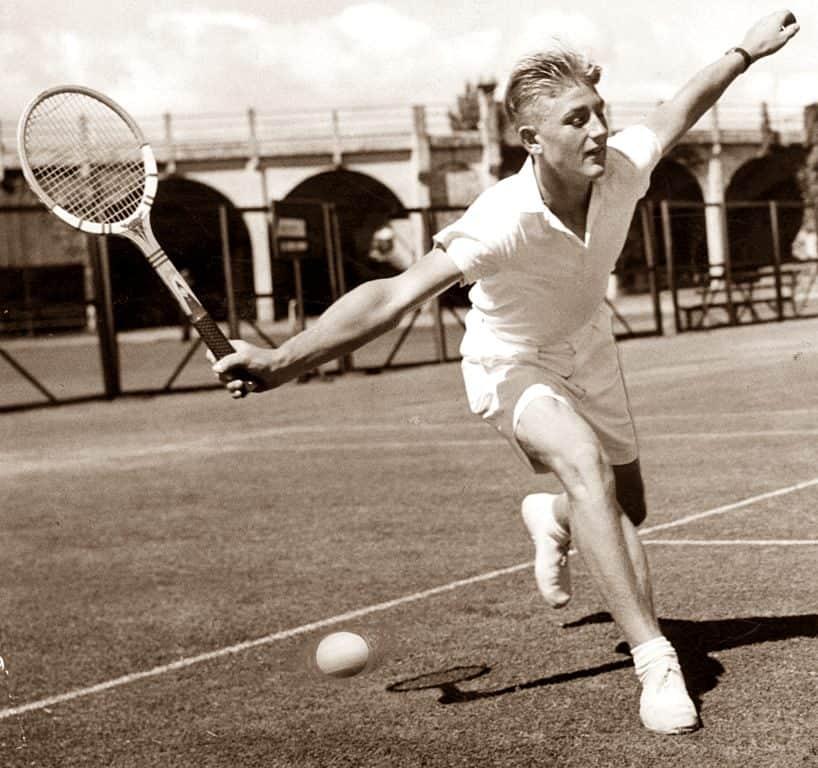 Australian tennis player Lewis Hoad