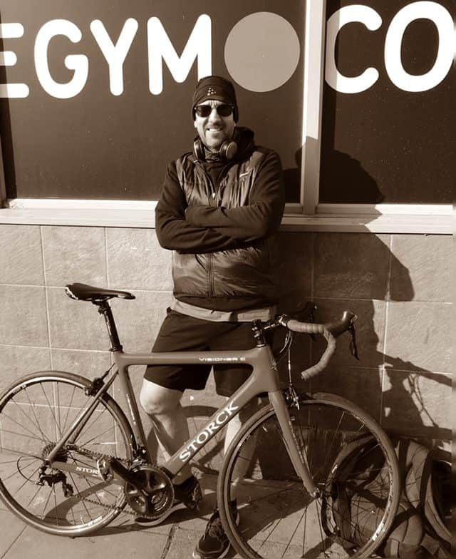 David Andrews with bike